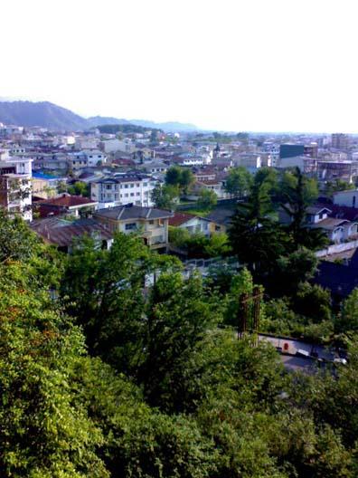 خانه های لاهیجانی از بالای کوه